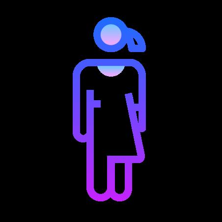 Unisex icon in Gradient Line