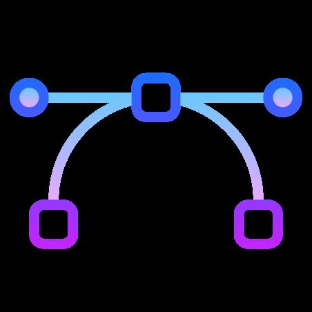 Vector icon in Gradient Line