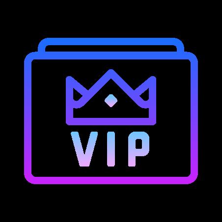 VIP icon in Gradient Line