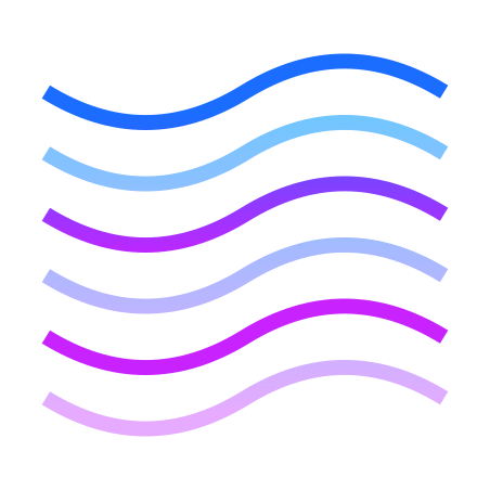 Wave Lines icon in Gradient Line