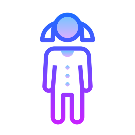 Little Girl icon in Gradient Line