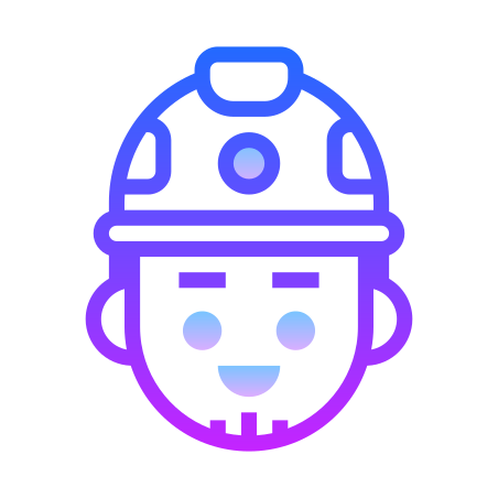 Worker icon in Gradient Line