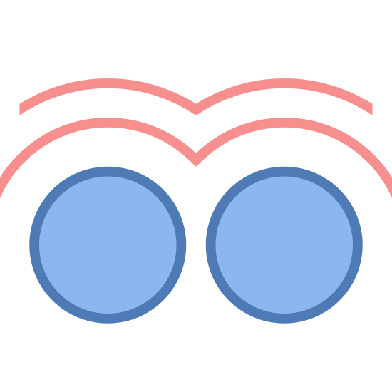 Two Finger Double Tap icon. This icon has two perfect circles sitting next to each other. On top of the circles is two curvey lines that seem to hut the tops of both of the circles.