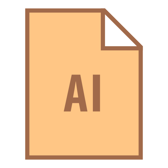 "AI icon. There is a rectangle with the top right hand corner folded over towards the center.  In the center of the rectangle is a capital letter ""A"" and a capital letter ""I""."