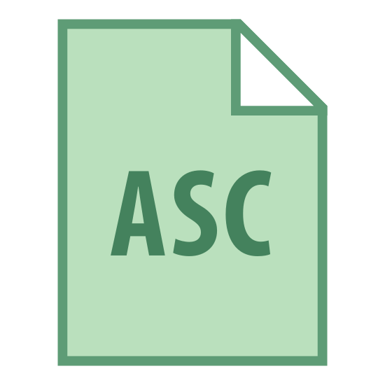 """ASC icon. This logo features a piece of computer paper with a fold placed on the top right corner of it. Inside of this paper are the letters """"ASC"""" placed directly in the center."""