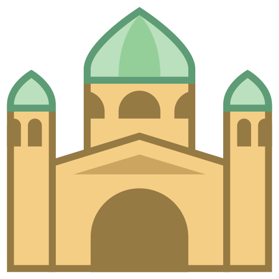 Basilica icon. The icon is a logo of Basilica. It is a shape of a religious structure, or mosque.