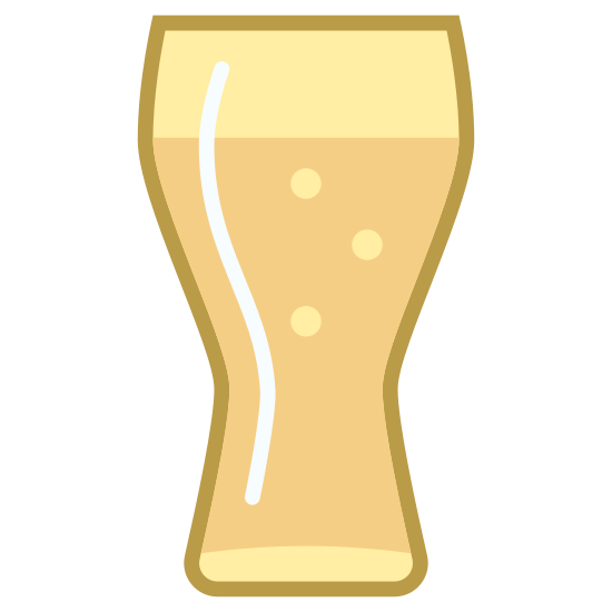 Pint icon. There is a line at the bottom of the image. There are two lines that are nose shaped from the side. The two nose shaped lines are parallel to each other. On top of these lines, there is a rectangle. On the bottom line of the rectangle, there is a space.
