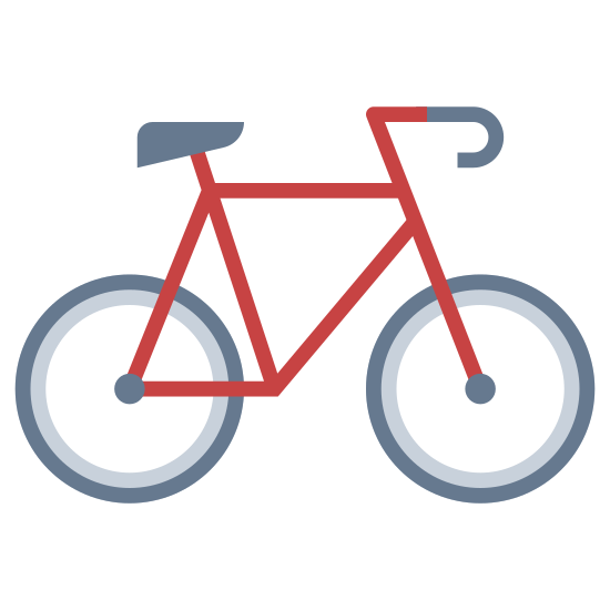 Rower icon. This is a black and white outline of a bicycle. The handlebars are on the right side, and the seat is visible on the left.