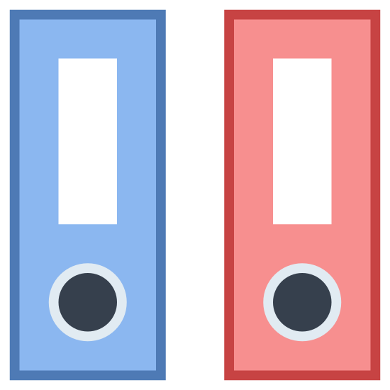 Folder z segregatorami icon