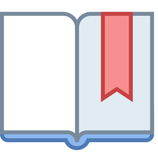 Закладка icon. It's two pages of a book almost, if you were to take a piece of paper in the very middle and make an indentation as if it's curving inwards. Make those pieces inseparable, and then open it up to make a book thing. The purpose of the icon is to place a mark on a page, hence the name bookmark. It's a play on words mostly.