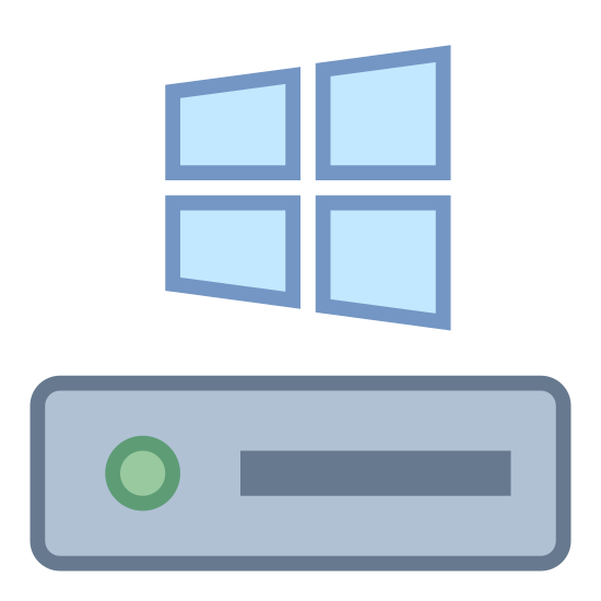 Laufwerk C icon. This is a picture of the Windows logo, which is a window that is slanted so it's right side is closer to you and appears bigger than the left. on the bottom of the Windows logo is a hard drive with a horizontal line and a dot to the left of it