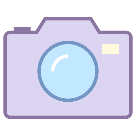 Fotocamera icon. The Icon looks very much like a Camera. However not a very big camera. Not a Nikkon or Cannon. It looks like a older phone type. Not a Polaroid, but from just the sketch of a phone it's not possible me to determine whether or not it's a digital or older style camera or not.