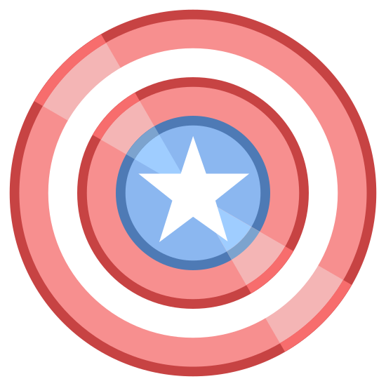 Captain America icon. Its Captain Americas Shield. Captain America is a super hero that pretty much wears an american flag suit color wise. his shield is a super strong shield that can stop bullets and explosives. he is part of marvels avengers series.