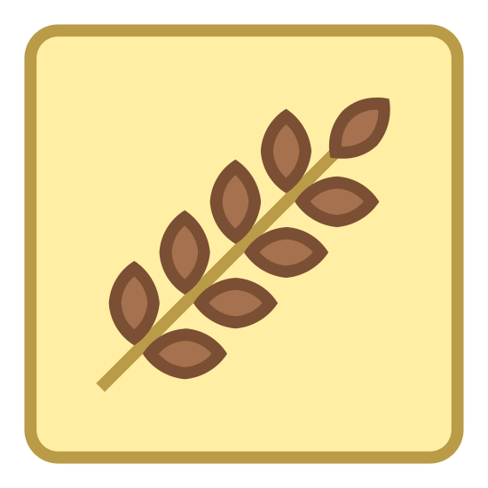 Carbohydrates icon. This is a drawing or some sort of an icon or logo that appears to be for wheat or bread products. There is a wheat sign in the middle that is going from bottom left up to the top right.