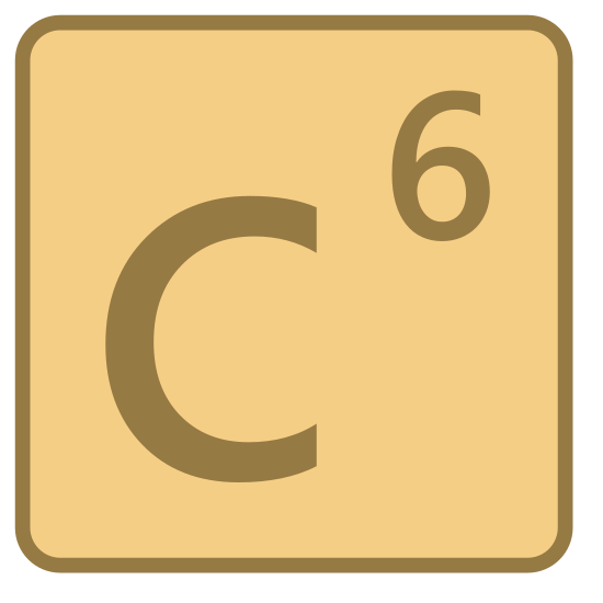 "Węgiel icon. It's a logo of a square with curved edges and then inside of the square is the letter ""c"" which represents the word carbon. It's a very simple image with thin lines."