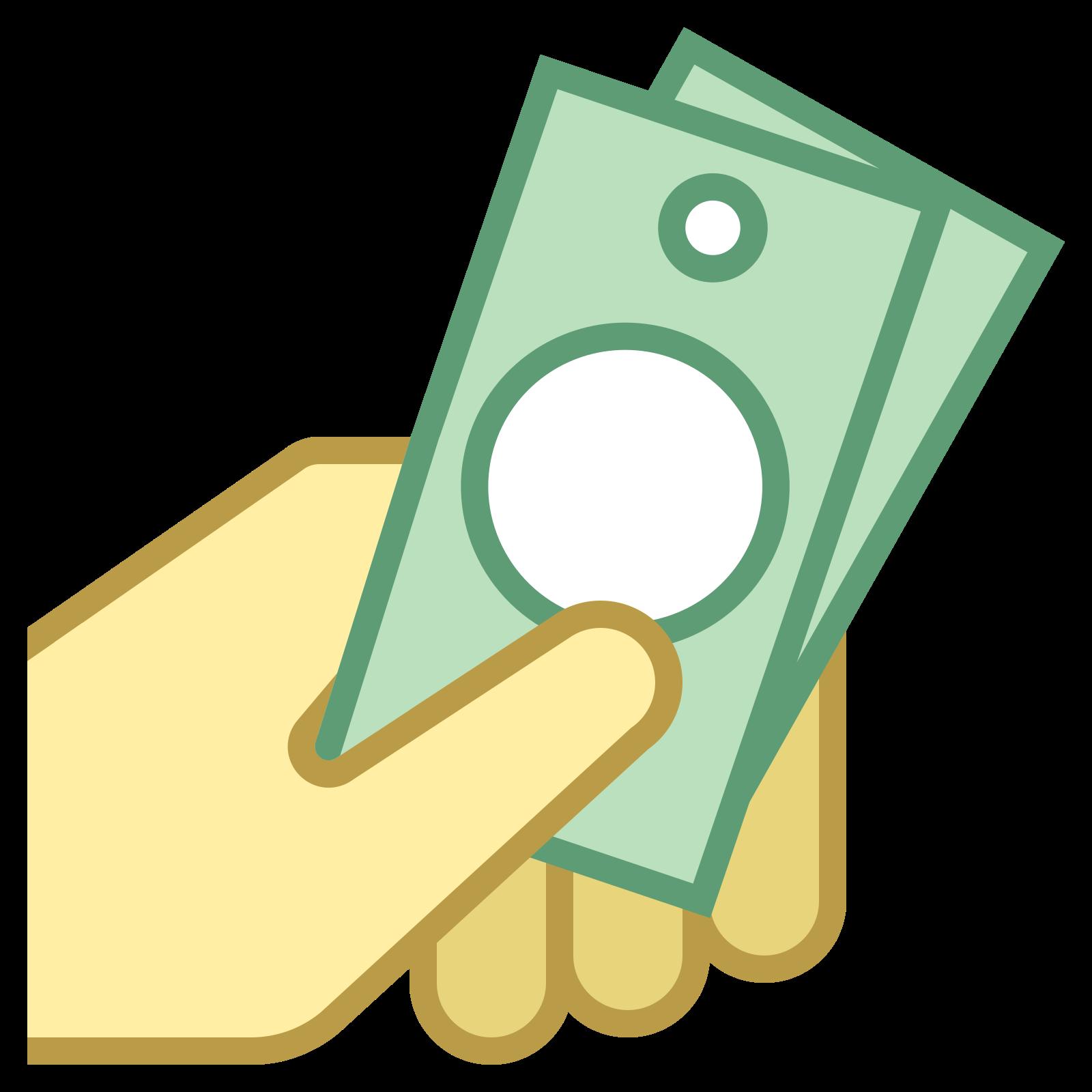 Dinheiro na mão icon
