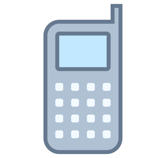 Telefon komórkowy icon. It's a picture of an old school cell phone. Or it could be considered to be just a modern land line. It just has nine black dots for the keypad, a small rectangle for the screen, and a smaller rectangle for the antenna.
