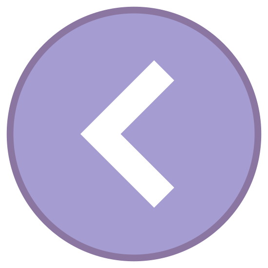 Chevron izquierda en círculo icon. This icon for Circled Chevron Left is a large circle. Inside of the circle, at its very center, is a chevron symbol. This looks like the letter L, only rotated clockwise by half a turn.
