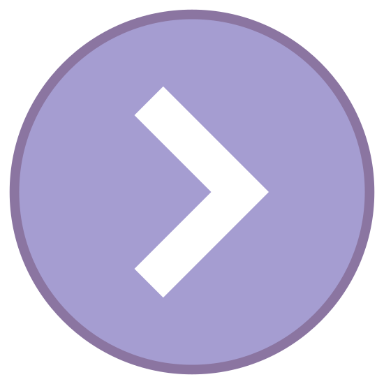 Chevron derecha en círculo icon. This looks like a circle with a V in the middle of it. The V is on its side, with the point going to the right and the opening on the left side.