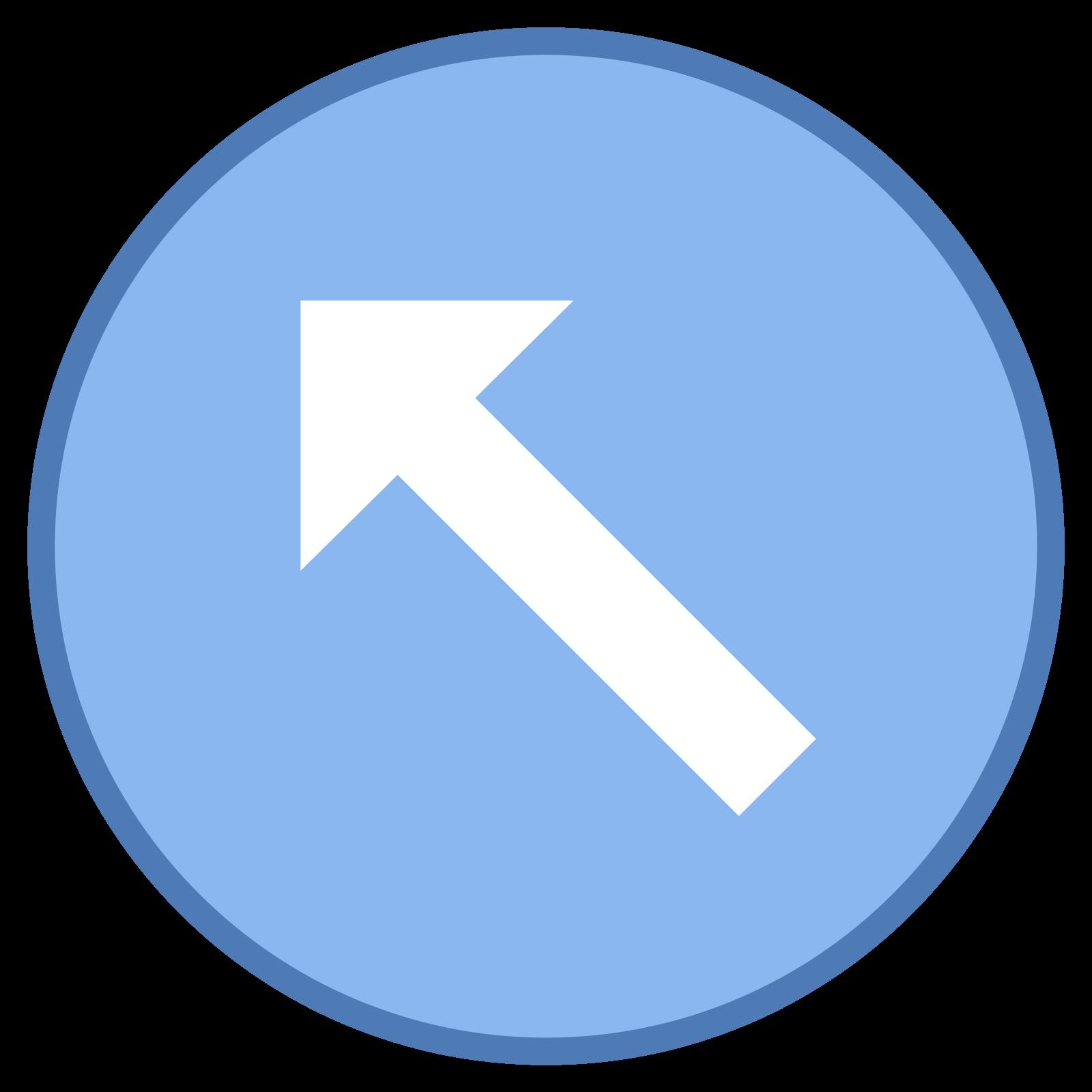 Arriba izquierda círculo icon