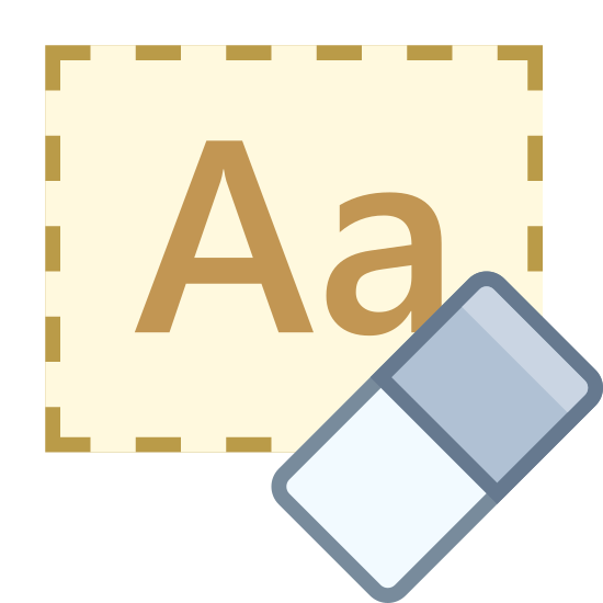 clear formatting icon free download png and vector