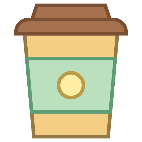 Caffè da asporto icon. This is a styrofoam cup that is used for coffee or other hot beverages. It is made of recyclable materials. The styrofoam cup keep the heat in the beverage. it also has a cardboard ring on it for your hand to make sure your hand does not get hot.