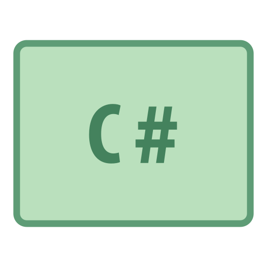 """CS icon. This is a logo for describing computer science labeled """"CS"""". It has a rectangular box surrounding a C and a # sign with no space in between them to depict the C# language."""