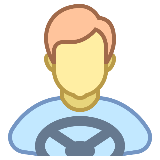 Driver icon. The logo kind of looks like a person. There is a circle on the top depicting a head, and directly below it is a hexagon with a semi circle cut out of the bottom. Below that semi circle is another semi circle inside of it.