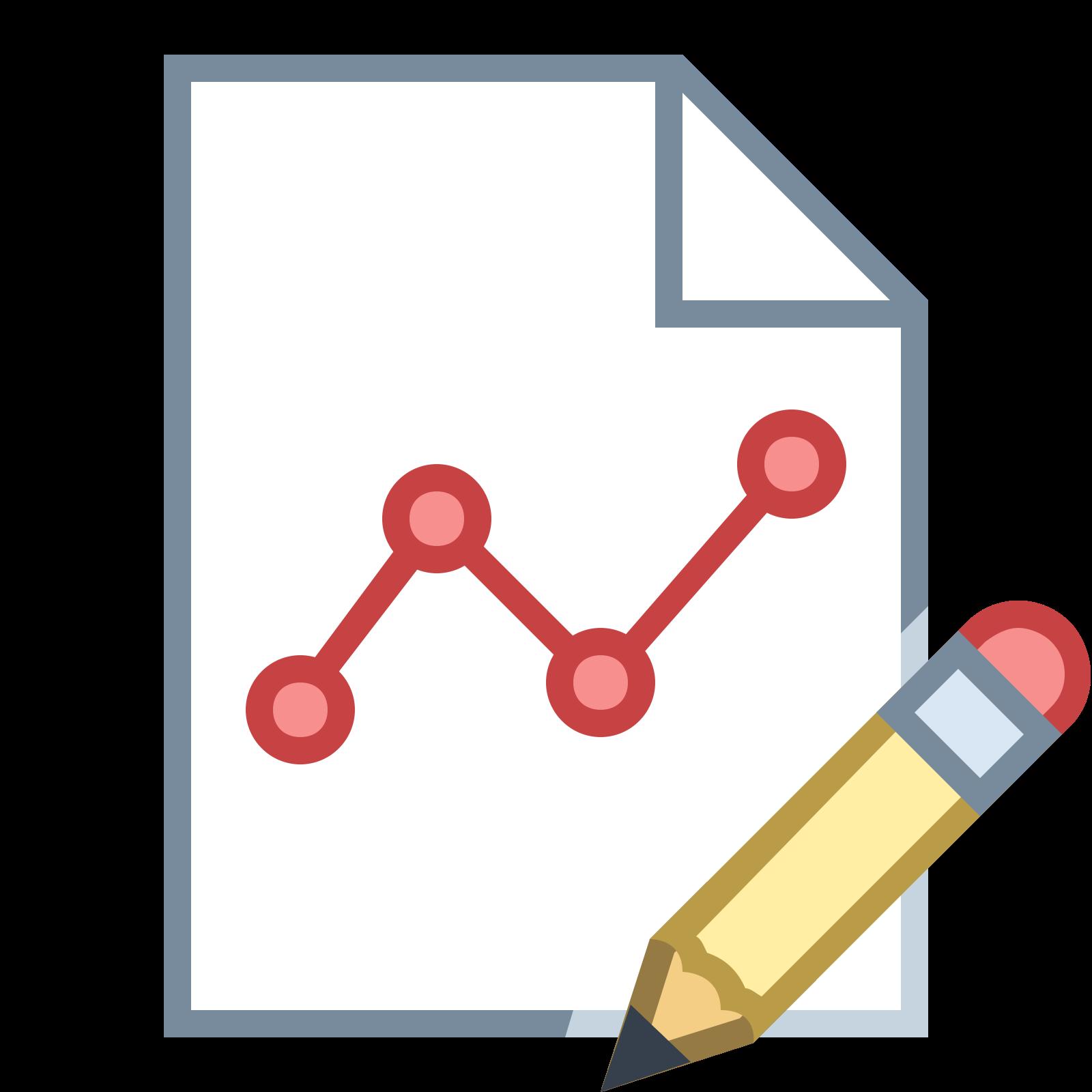 グラフレポートの編集 icon
