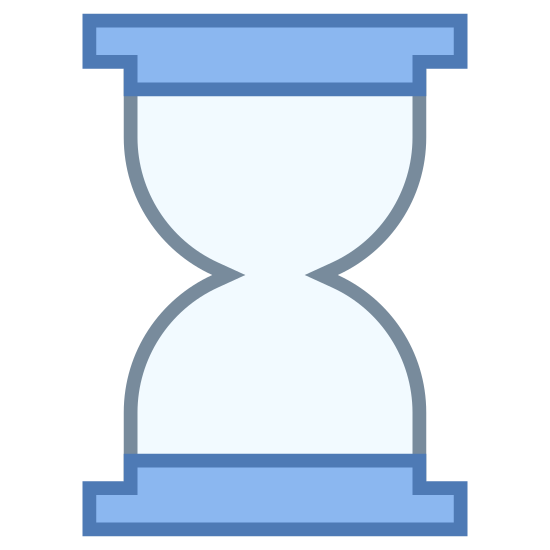 Sand Clock icon. Imagine the top shape of a wine glass without the stand and base, and now imagine another one that is upside down and they're both connected. Both of the openings of the whine glasses are enclosed from the top and bottom. There is space in the middle for small objects to pass through.