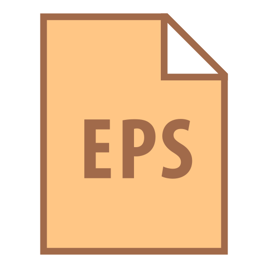 EPS icon. The icon is a sheet of paper with EPS written on it. EPS is a DSC conforming post script document with restrictions. It is used as a file format for graphics