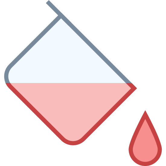Fill Color icon. This looks like a square turned on its side, like a diamond. There is a handle connected to the square, and liquid is dripping out of it.