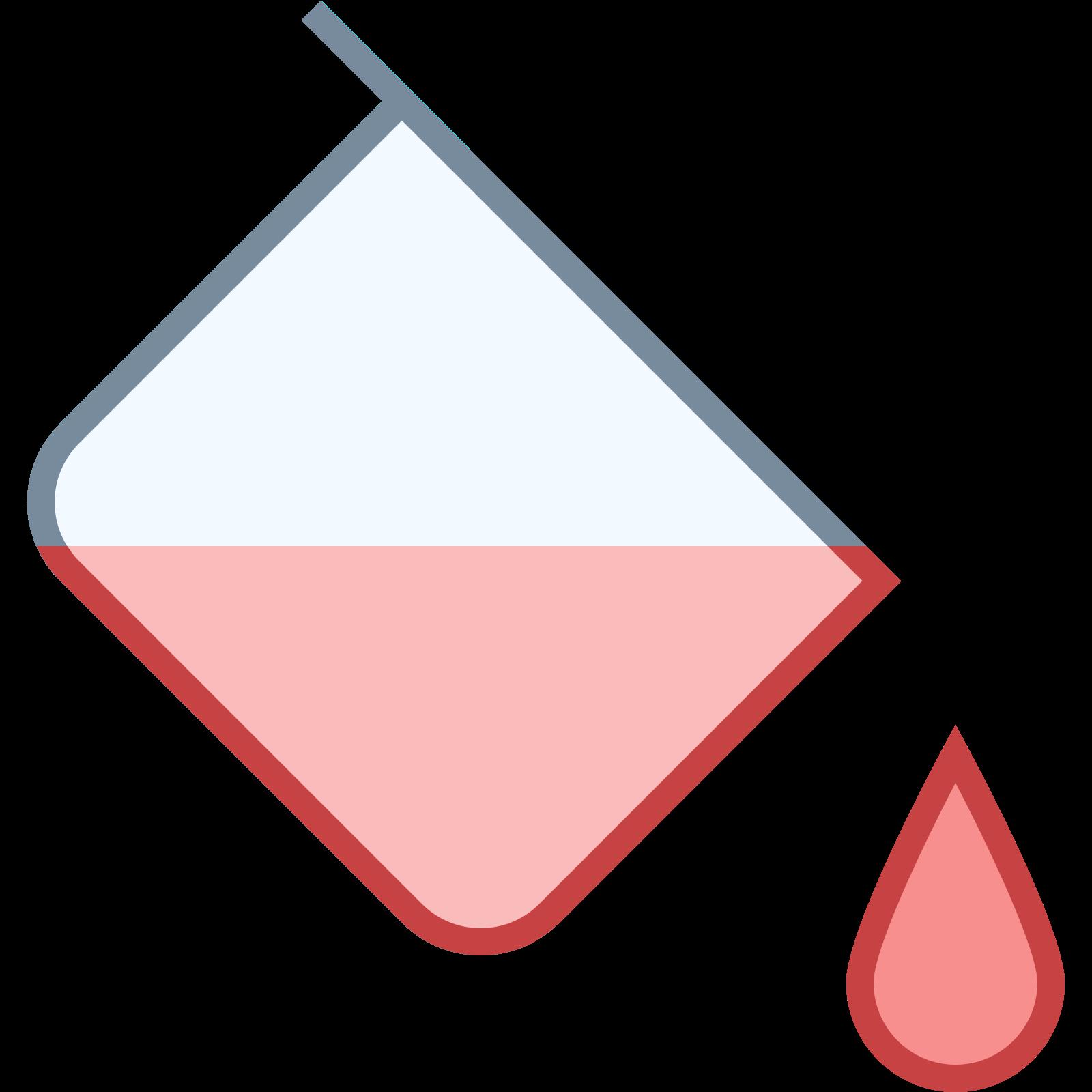 塗りつぶしの色 icon. This looks like a square turned on its side, like a diamond. There is a handle connected to the square, and liquid is dripping out of it.