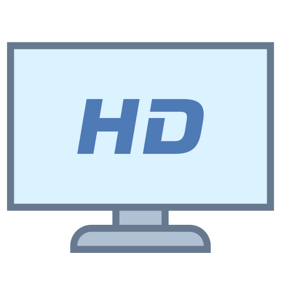 HDTV icon. This is a television but instead of it just being a television it's an HD television. This means the picture is more so clear and has more pixels running through it to make it look nicer. It's more aesthetically pleasing to the eye. The HDTV itself is a big rectangle that has videos playing over it with buttons on it to change the channels, turn it off and on, etc.
