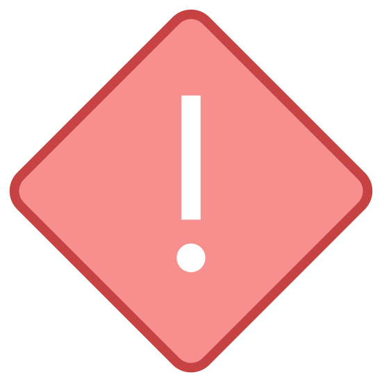 High Priority icon. There is a single diamond shape, and in the center of the diamond shape is an exclamation mark. There's no other detail to the sign or any other marking on it, it seems like a warning sign of a sort.