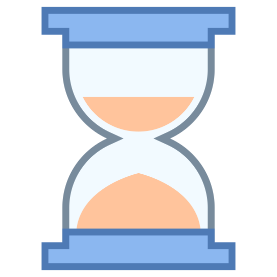 Hourglass icon. It's a logo of an Hourglass, reduced to an image of an Hourglass. An Hourglass looks like the two wine cups held together without their stems in opposite directions. After the glass there is something to hold the matter in place in order to tell time.