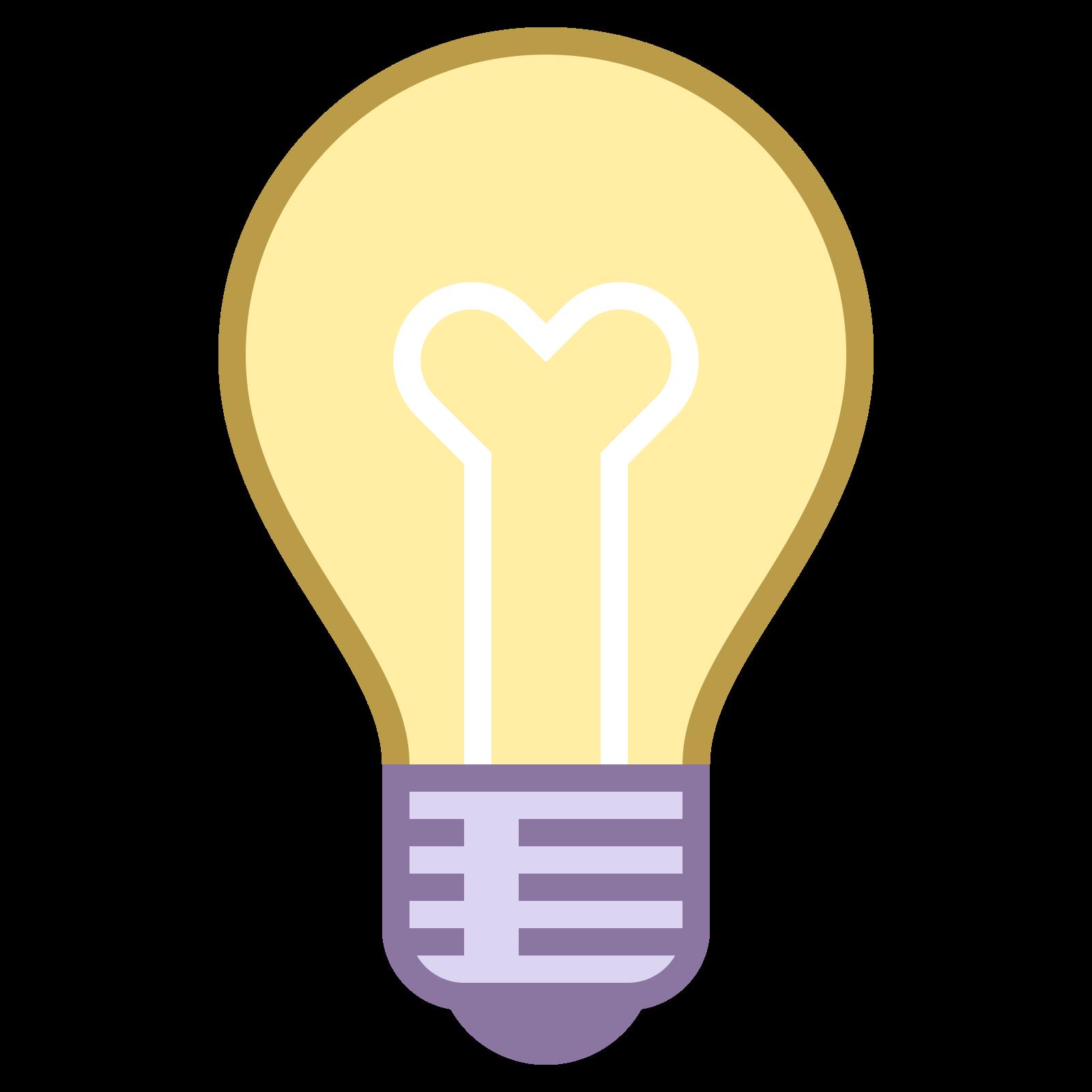 """想法 icon. It is a light bulb. Inside of it, there is a """"Y"""" sort of drawing to indicate the inner workings of the bulb. It also has the screwing part on the bottom of the bulb."""