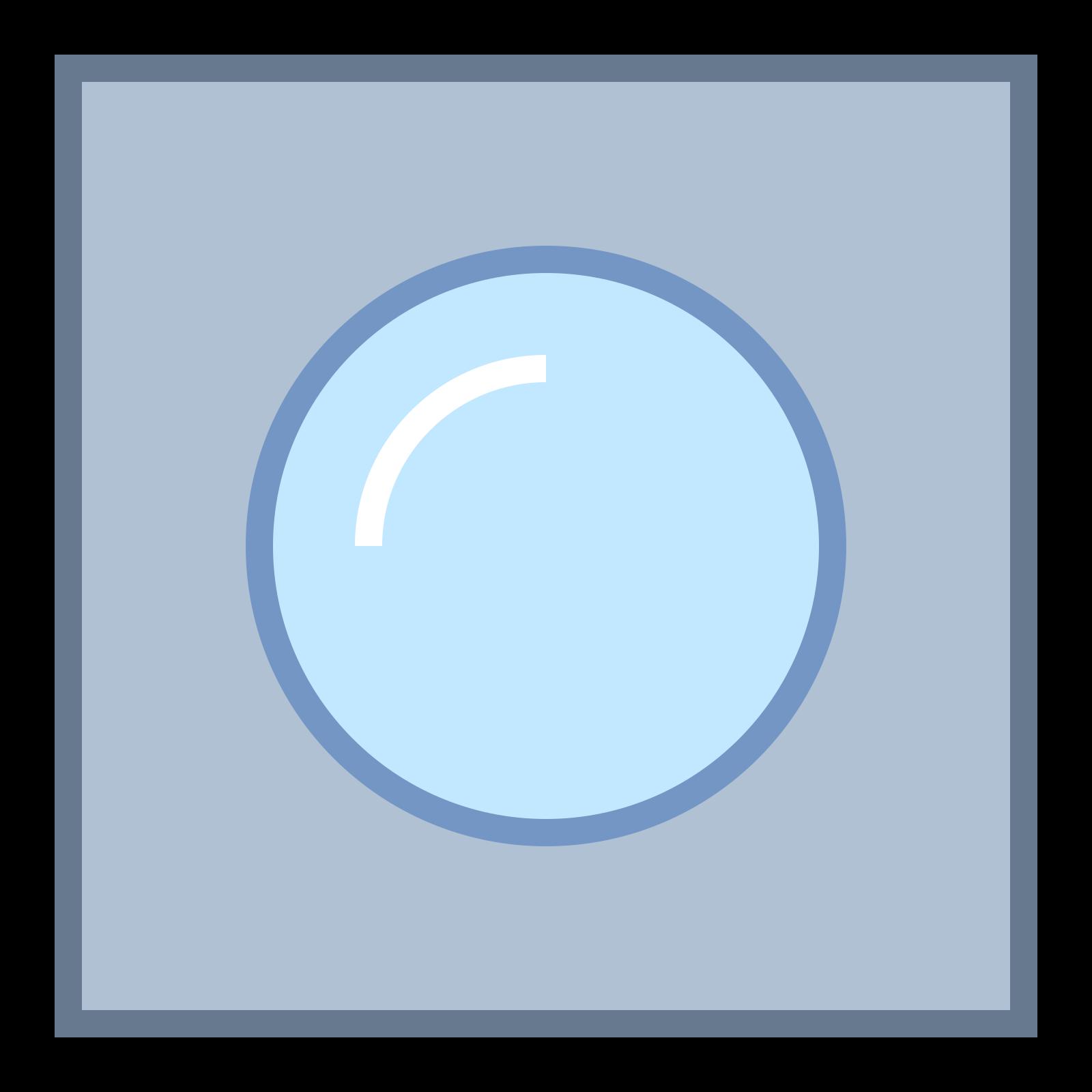統合されたウェブカメラ icon. This icon is a small square with rounded edges. Inside the square is two circles. One circle is smaller than the other and is inside the larger circle, which is in the middle of the square. The image looks like the lens of a camera.