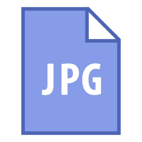 """JPG icon. This is a picture of a piece of paper whose top right hand corner is folded inwards on top of the paper. In the center are the letters """"JPG"""" in large writing. It seems to be an icon for a picture file."""