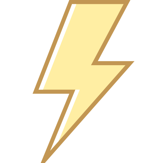 Błyskawica icon. This is a figure of a lighting bolt. The lightning bolt consists of a rhombus like figure pointing downwards, another rhombus figure pointing horizontally, and a final triangular shape pointing downwards.