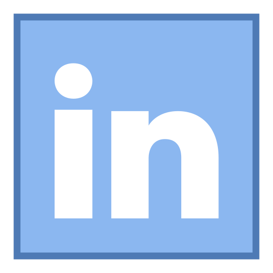 "LinkedIn icon. The icon is the LinkedIn logo, truncated to the stylized ""in"" at the end of the website's name, within a rounder rectangle. It is a common way of symbolizing a LinkedIn social media link."
