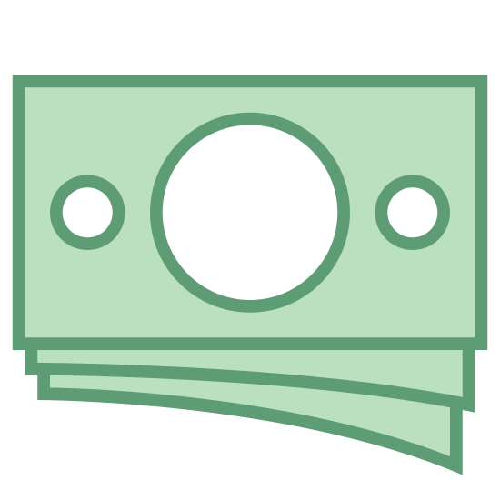 Деньги icon. Money is a currency that can either be circular in shape with rugged edges that are imprinted on it. Or rectangles with sharp edges, and very flat and very thin. It has things written on it to inform you of how much it is.