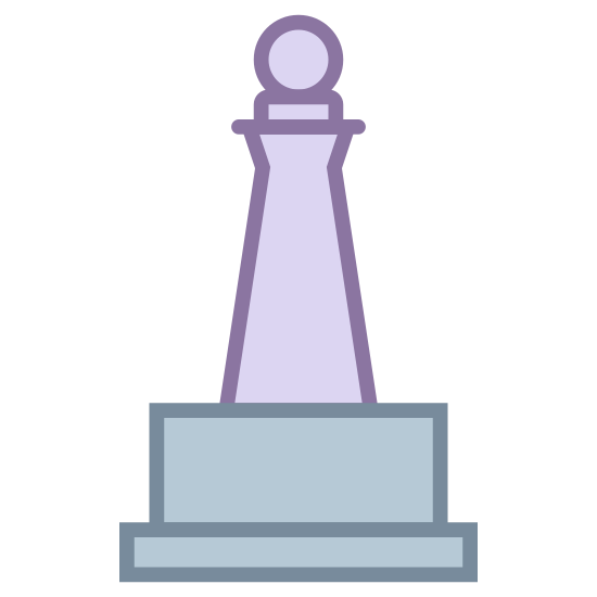 Monument icon. This icon represents a monument. It is a building with 4 levels and a round top. It precedes to get smaller from the bottom to the top ended with what looks like a ball on top.