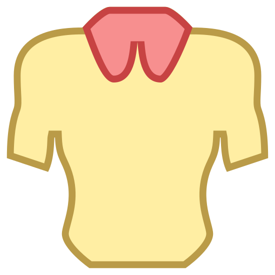 Neck icon. It is the shame of a muscular man's torso from waist up to collar, including shoulders and the top of the biceps. At the top of the collar is a circle with a crease in the middle, similar to an upside down heart shape and three equal dots making a triangle pattern inside the circle.