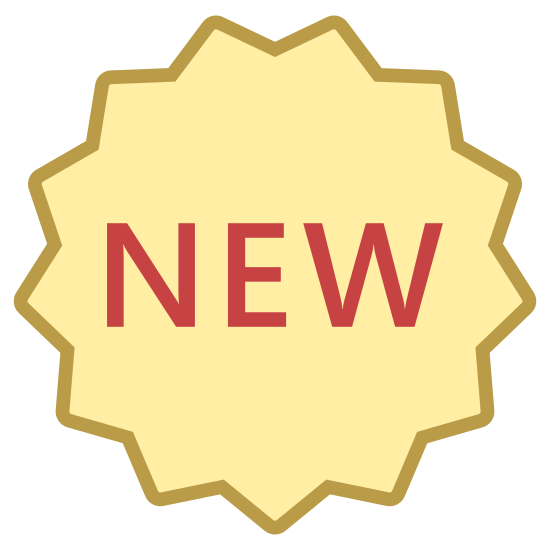 Nowy icon. The word new is in a thirteen point star. The letters of the work are centered. The letters are also all capitalized. The center point of the star is pointing straight down but no points are going straight up.