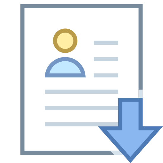 Download Resume Icon Free Download Png And Vector