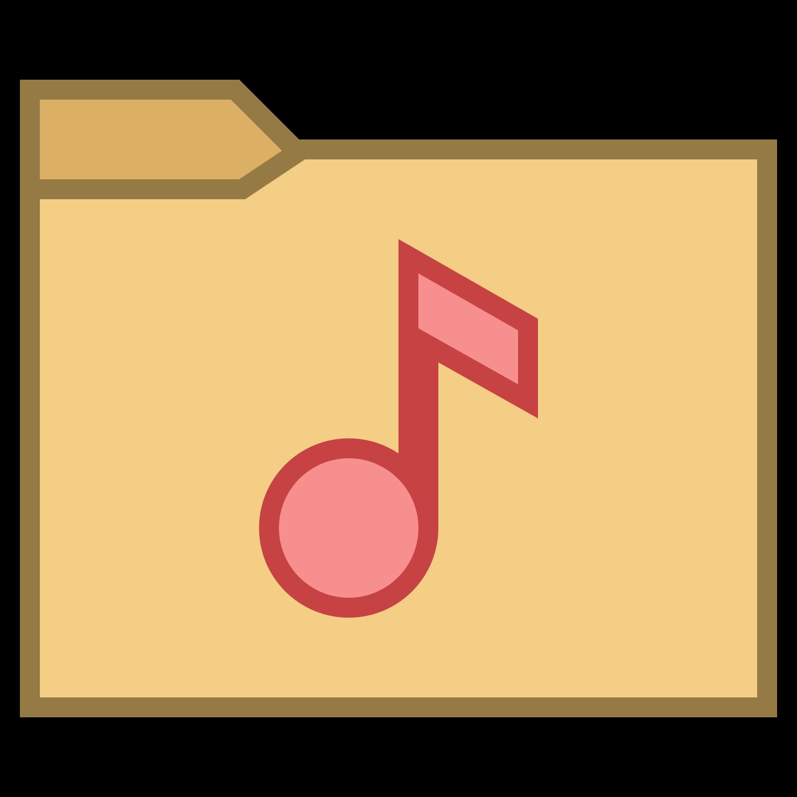 Folder z muzyką icon