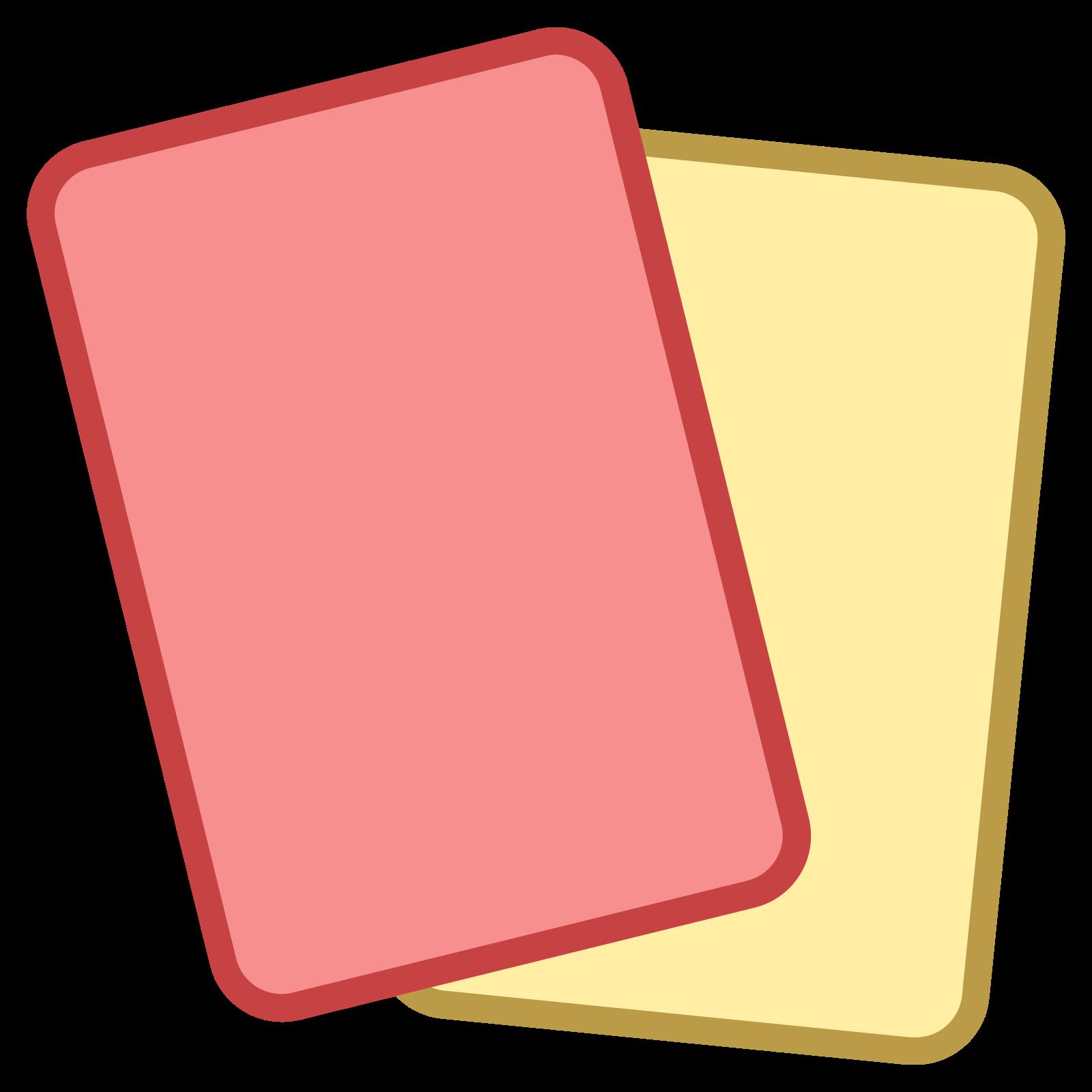 Czerwone i żółte kartki icon