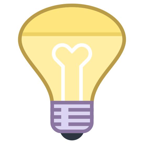 Żarówka reflektora icon. This is a lightbulb icon. It is shaped like a funnel, with a very wide end at the top then it tapers off towards the bottom. At the bottom, there's a very small black part which is the part that attaches into the fixture.