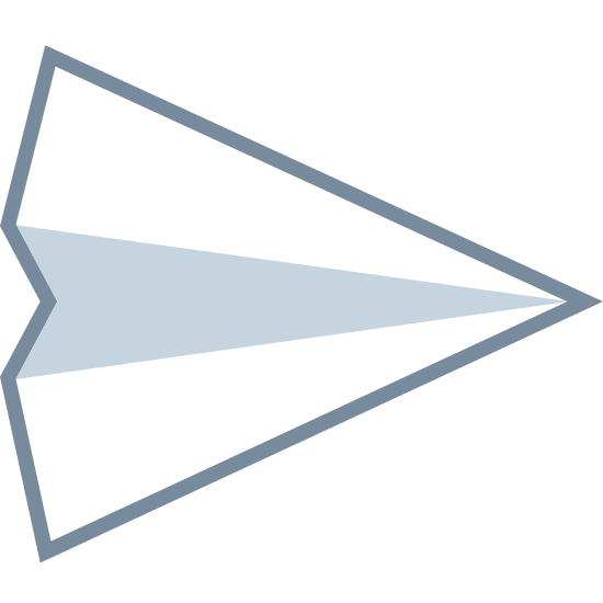 Wysłane icon. The logo is shaped like a triangle facing diagonally up and right. The triangle's base is slightly dented in giving it the appearance of an arrowhead. A line runs down the center of the triangle splitting it into two halves.